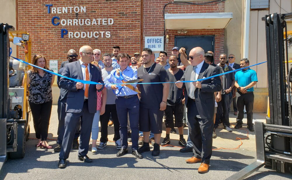 Trenton Corrugated Products Ribbon Cutting Image
